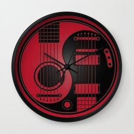 Guitar Yin-Yang Wall Clock