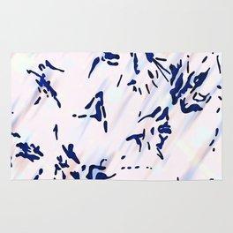 Blue Splatter Painting Pattern Rug