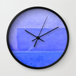 Blue City of Chefchaouen in Morocco Wall Clock