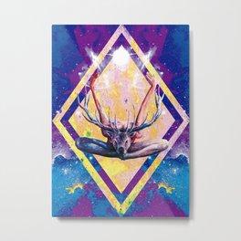 Autre visage du Yoga au Cerf Metal Print