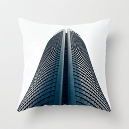 Skyscraper in Madrid Throw Pillow