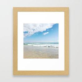 Beach waves Framed Art Print
