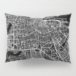 Amsterdam Black Map Pillow Sham