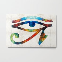 Eye of Horus - Art By Sharon Cummings Metal Print