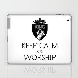 KEEP CALM AND WORSHIP Laptop & iPad Skin