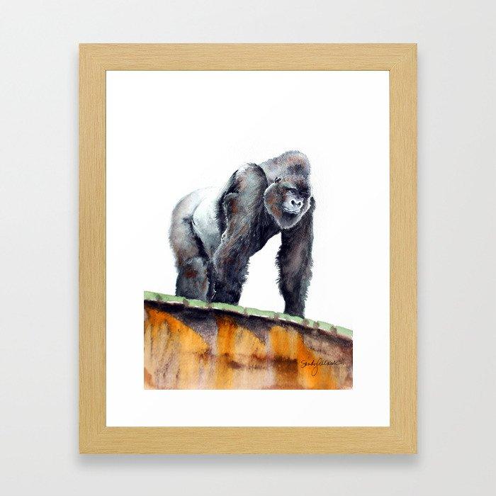 Majestic Gorilla Framed Art Print