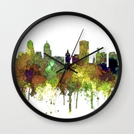 Buffalo, New York Skyline - SG Safari Buff Wall Clock