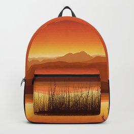 Sunset near Lake Backpack