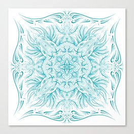 Cold  mandala Canvas Print