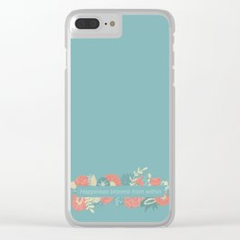 Happiness blooms from within Clear iPhone Case