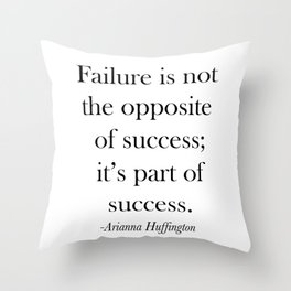 Success Quote Throw Pillow