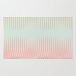 Blush Blue Weave triangles Ombre Rug