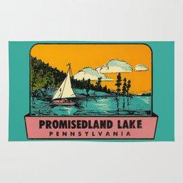 Vintage Retro Camping Promisedland Wanderlust Rug
