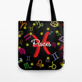 Pisces Floating Zodiac Tote Bag
