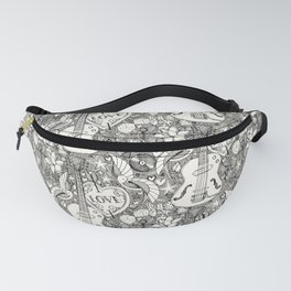 rockabilly doodle iron Fanny Pack