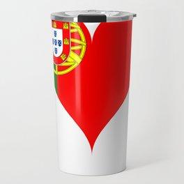 Portugal Heart Flag Travel Mug