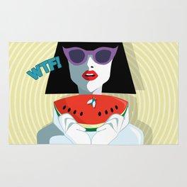 Pop Art Girl Rug