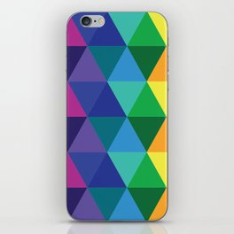 Geometric Galaxy - All the Colors of the Rainbow iPhone Skin