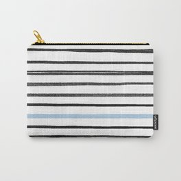 pale blue line Carry-All Pouch