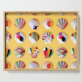 Rainbow Print Shells Serving Tray