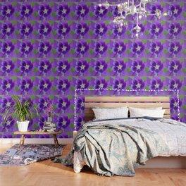 Fluid Nature - Purple Aquilegia Flower Wallpaper