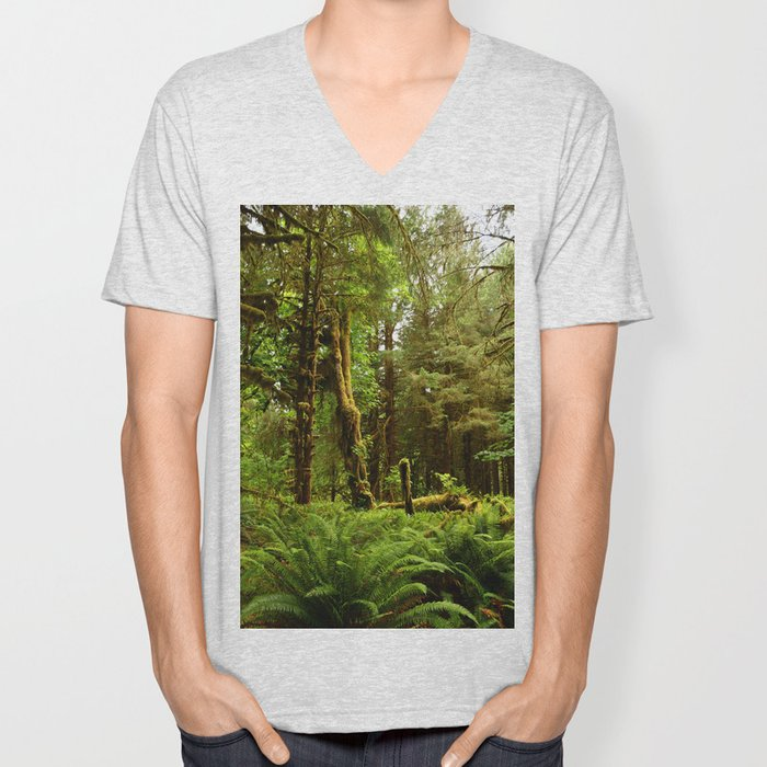 Hoh Rainforest Unisex V-Neck