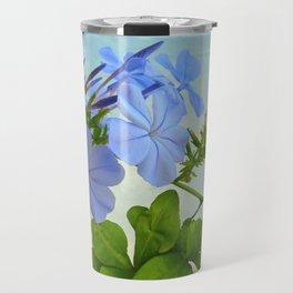 Blue Plumbago Travel Mug