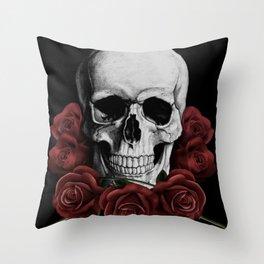BOUQUET OF DEATH Throw Pillow