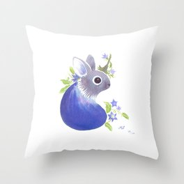 100 days of Accidental Creatures: No.30 Eggplant Creature Throw Pillow