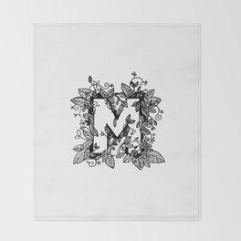 Leafy M Throw Blanket