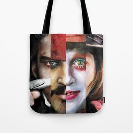 Many Faces of Johnny Depp Tote Bag