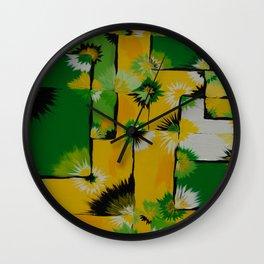Lemon Lime Blossom Query Wall Clock