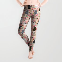 French Bulldog must have florals gifts dog breed pet lover frenchies forever Leggings