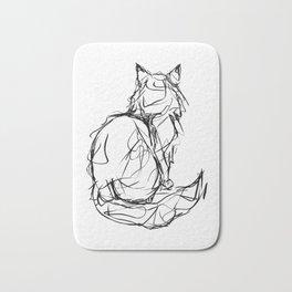 Kitty Gesture Bath Mat
