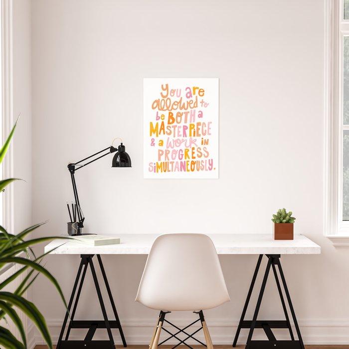 Masterpiece & Work In Progress Poster