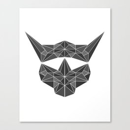 lowpolycybercat Canvas Print