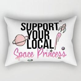 Space Princess Rectangular Pillow
