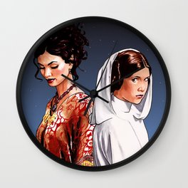 The Princess and The Companion Wall Clock