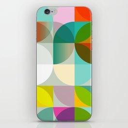 mid century geometry vibrant colors iPhone Skin