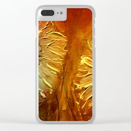 Abstract Flowers Clear iPhone Case