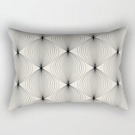 Geometric Orb Pattern - Black Rectangular Pillow