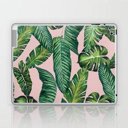 Jungle Leaves, Banana, Monstera II Pink #society6 Laptop & iPad Skin