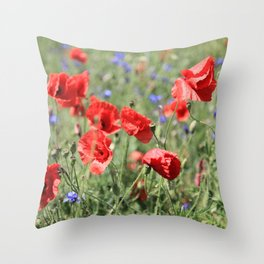 poppy flower no9 Throw Pillow