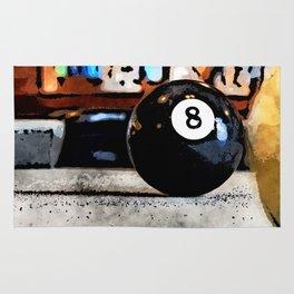 Shooting For The Eight Ball Rug