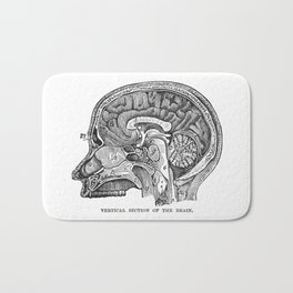 Cottage Physician - Vertical section of the brain Bath Mat