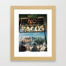 Tacos in Austin, TX Framed Art Print
