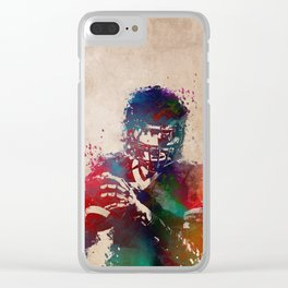 American football player 3 Clear iPhone Case
