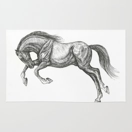 Leaping horse Rug