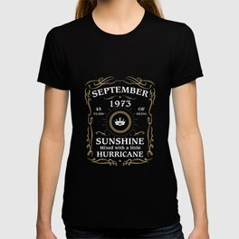 September 1973 Sunshine mixed Hurricane T-shirt