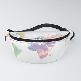 colorful world map Fanny Pack